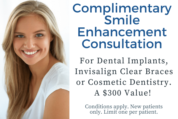 free implant, braces or cosmetic consult